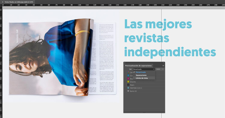 Artes finales en Adobe InDesign. Límite de tinta