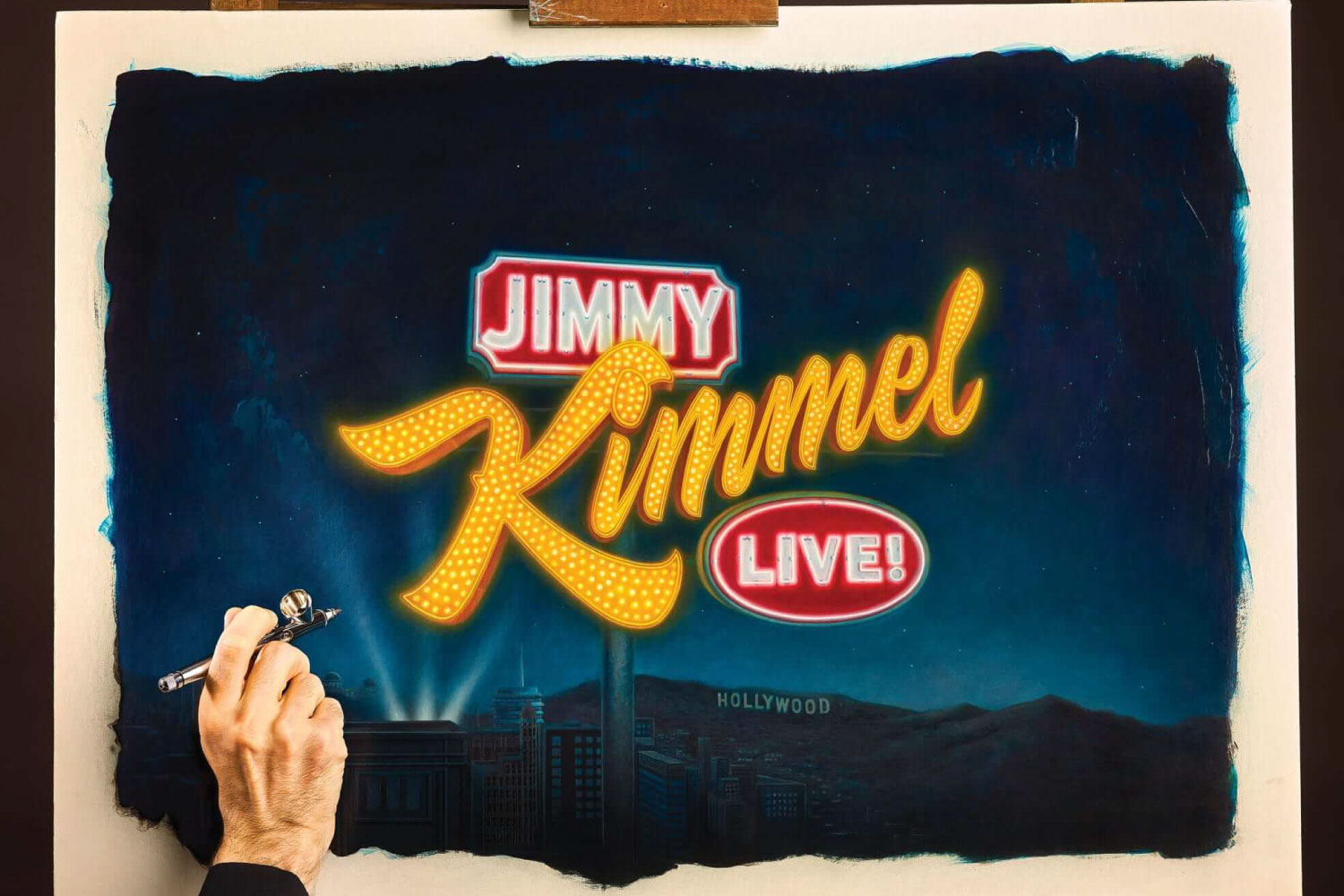 House Industries Jimmy Kimmel logo