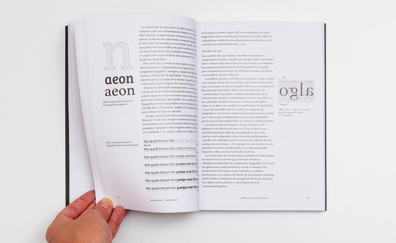 Pliego interior de la obra Legibilidad y tipografía.